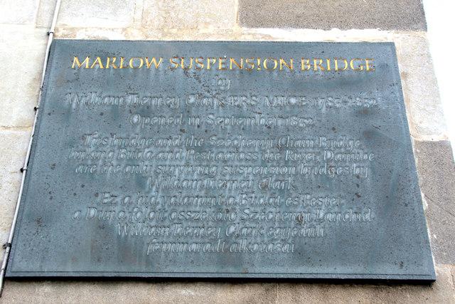 Information Board, Marlow Suspension Bridge, Buckinghamshire