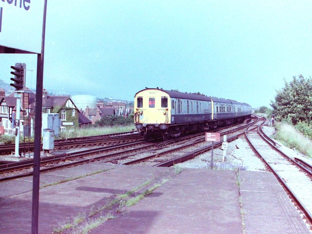 Train Near Folkestone Central Station, 1981