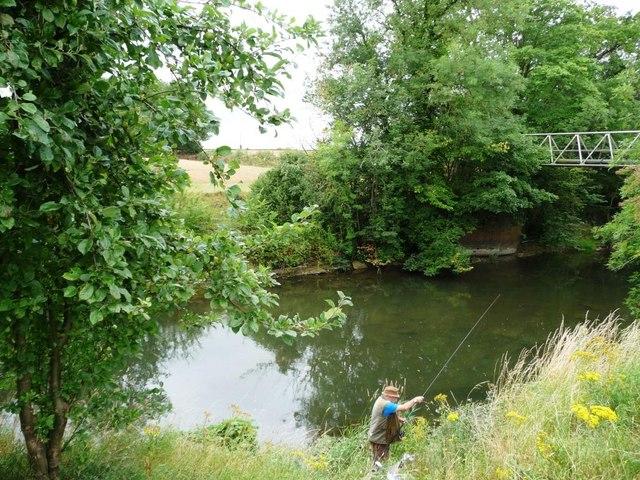 Angler on the Teme