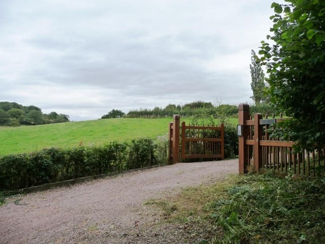 Gated entrance to the Spinney