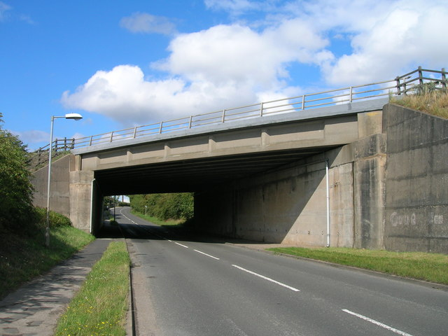Motorway bridge over Styrrup Road