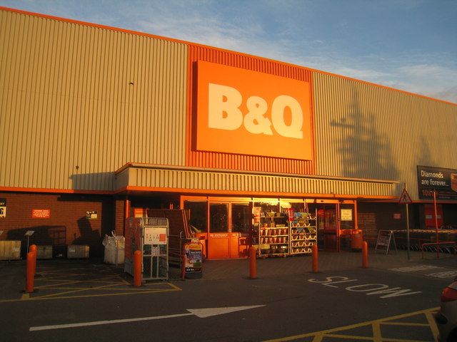Evening light on B&Q