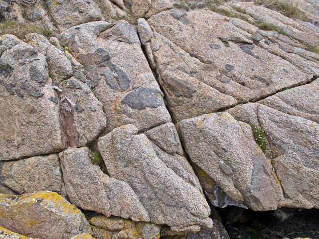 Detail of granite at Knockvologan