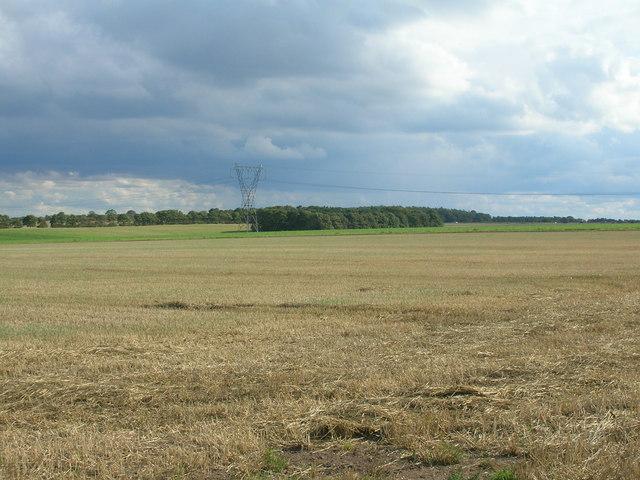 Farmland off the A634
