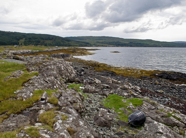 Coastline at the Aird of Kinloch