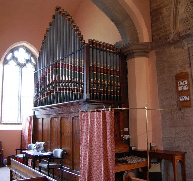 The organ of Tarrington Church