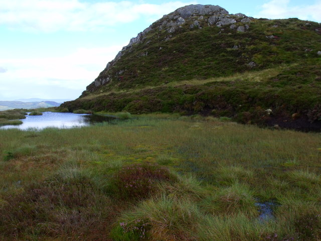 Lochan and cnocan north of Binnean nan Gobhar in Loch Ard Forest