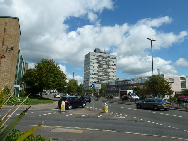Looking from Queensway into College Road