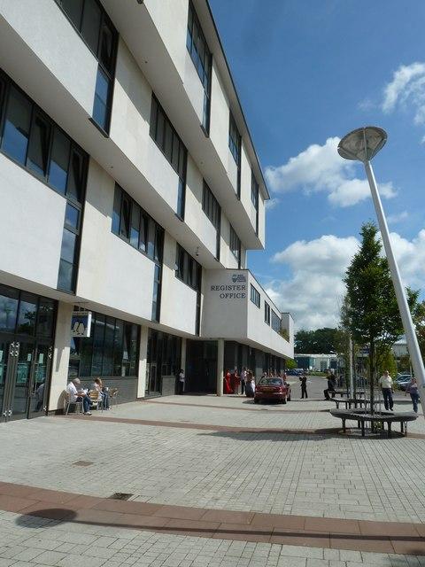 Looking towards Crawley Register Office
