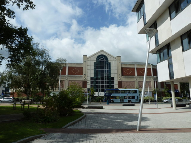 Looking from Crawley Register Office towards the County Mall