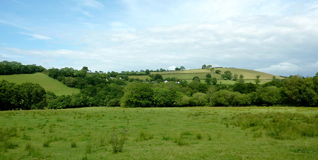 Farming landscape north east of Abermeurig, Ceredigion