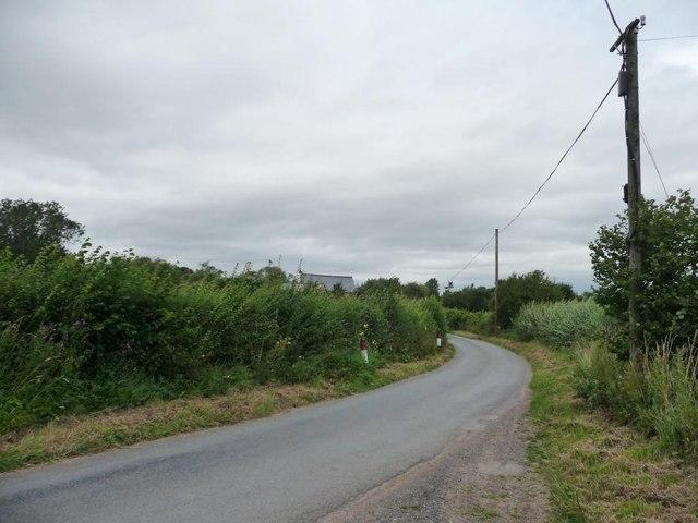 The lane north through Middleton