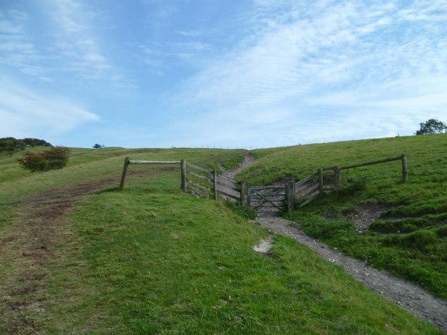 Gate on the ascent of Fulking Escarpment