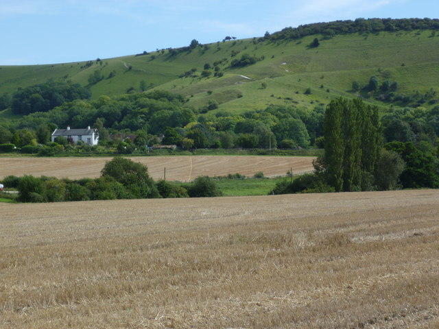 View across fields towards Fulking