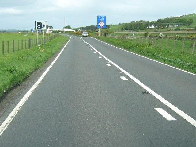 Warning - Low Bridge 3/4 mile ahead