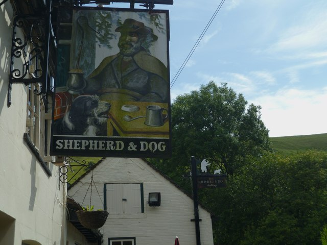Signs at the public house in Fulking