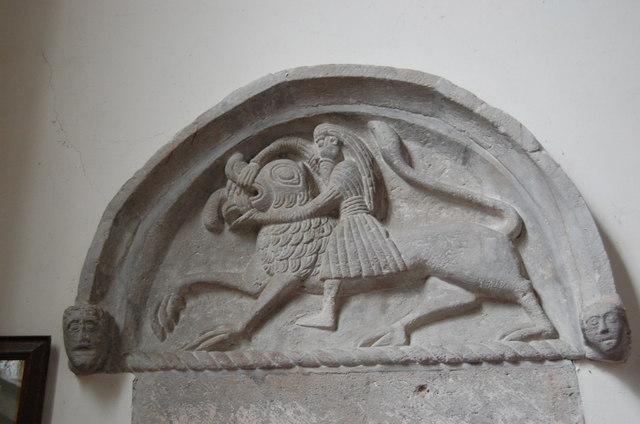 The Samson Tympanum, Stretton Sugwas Church