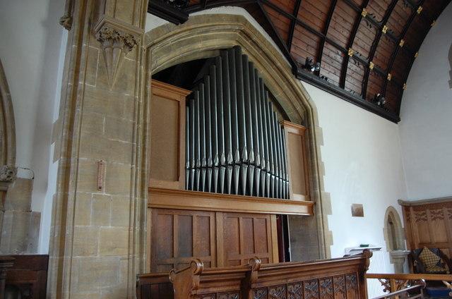 The Organ at Stretton Sugwas Church