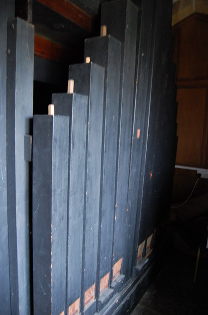 Wooden Organ pipes, Stretton Sugwas Church