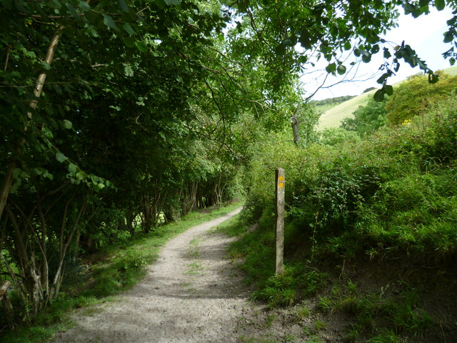 Footpath junction south of Fulking