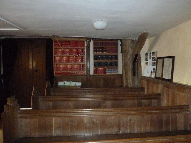 Dummer - All Saints Church: looking towards the hymn books