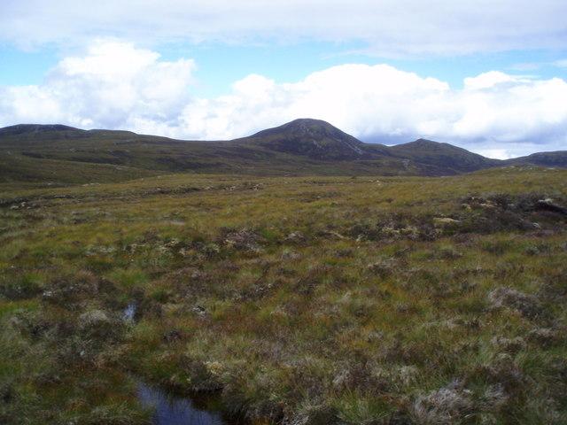Meall nan Oighreagan from Meall nan Aighean Moorland