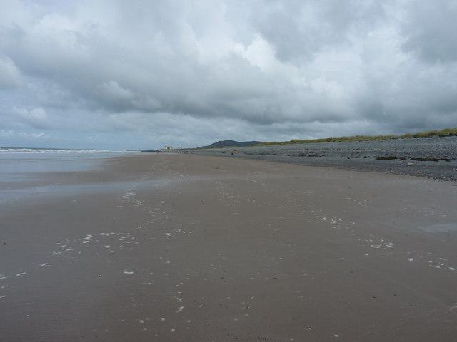 Tywyn beach, near the high water mark