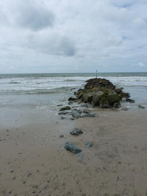 Groyne on Tywyn beach