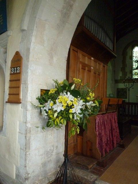 Dummer - All Saints Church: floral display