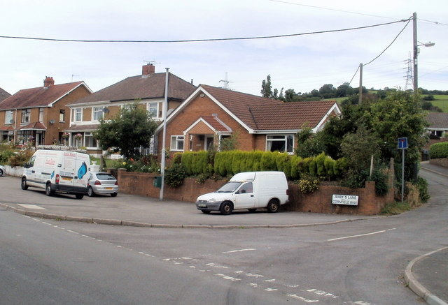 Pandy Road houses near the corner of Jerry's Lane, Bedwas