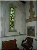 SU5846 : Dummer - All Saints Church: stained glass  window (ii) by Basher Eyre