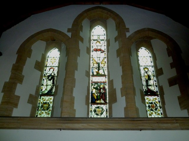 Dummer - All Saints Church: stained glass  window (iii)