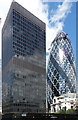 TQ3381 : Commercial Union Assurance, Leadenhall Street and 30 St Mary Axe by Stephen Richards
