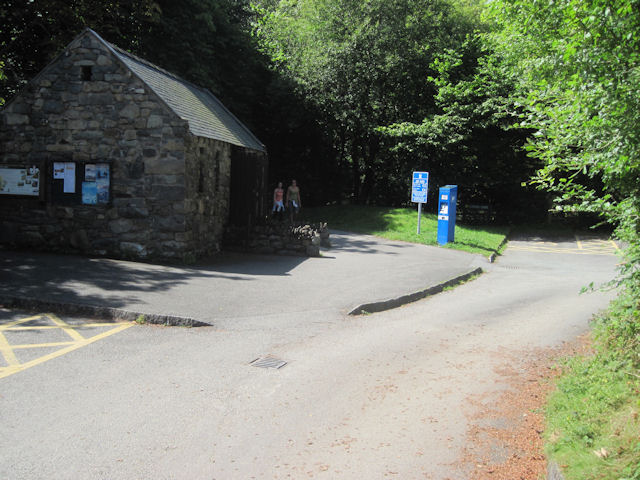 Minffordd Car Park track and toilets