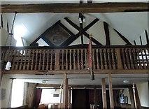 SU5846 : Dummer - All Saints Church:  balcony by Basher Eyre