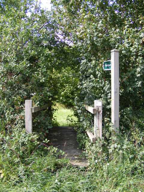 Footpath to the B1077