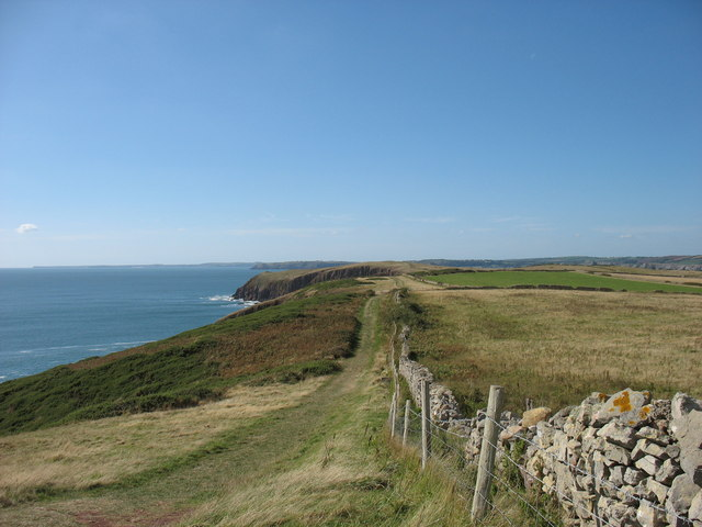 The south of Caldey Island