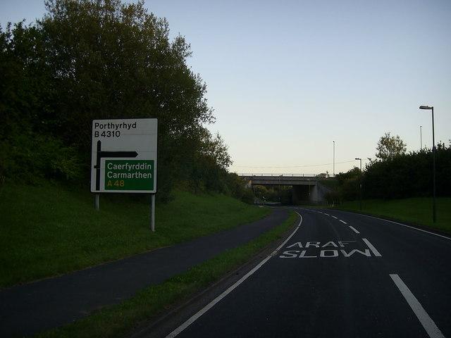 Road bridge near Porthyrhyd