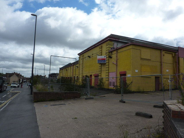 Yellow industrial premises to let