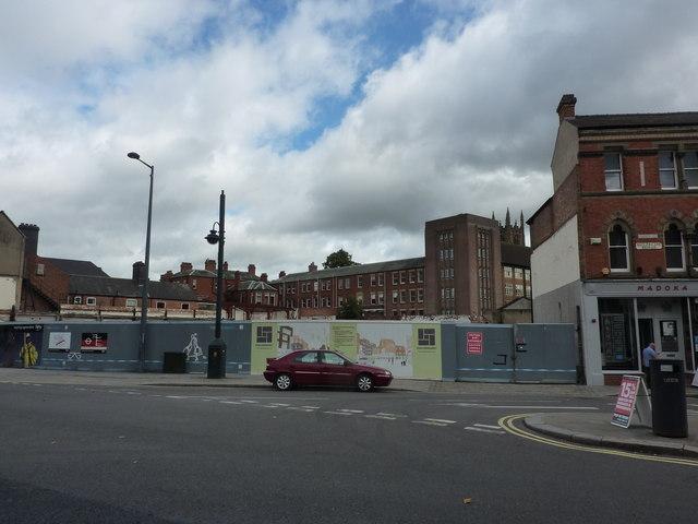 Building site, Sadlersquare, Derby