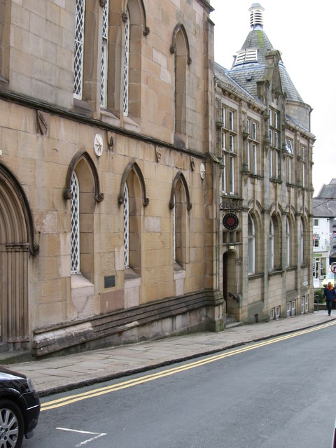 Clitheroe - Town Hall and Library