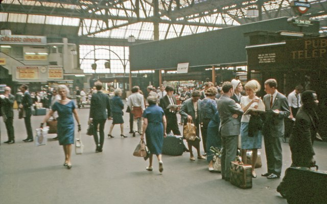 Waterloo concourse in 1967