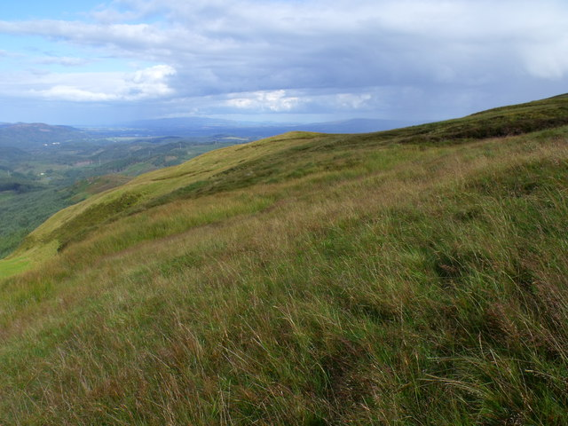 Slopes on north side of Beinn Bhreac overlooking Loch Ard Forest