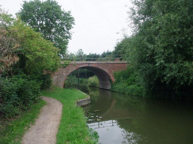 A turnover bridge, no 13, on the Grand Union Canal, Market Harborough