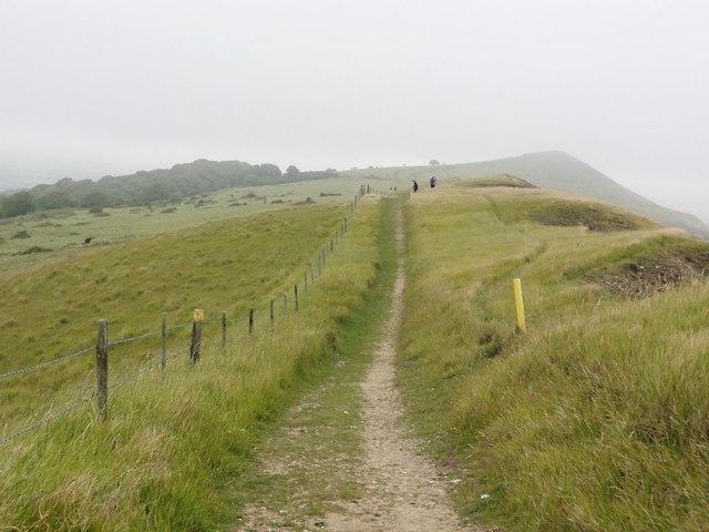 The Coastal Footpath Along Gad Cliff