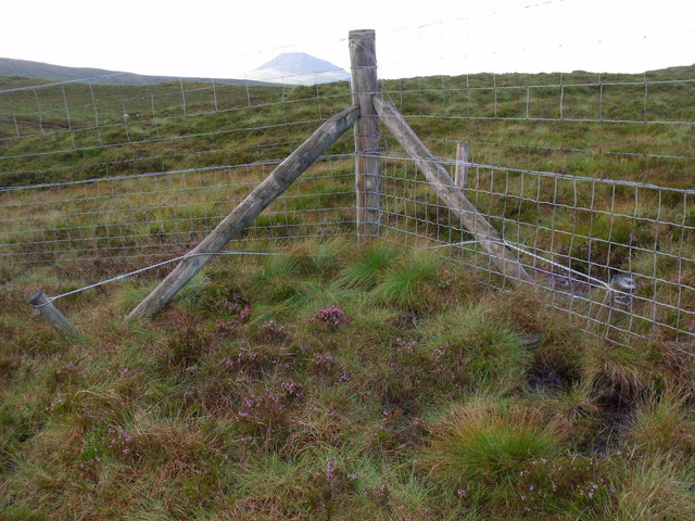 Angle in fence-line bounding Loch Lomond Park and Loch Ard Forest