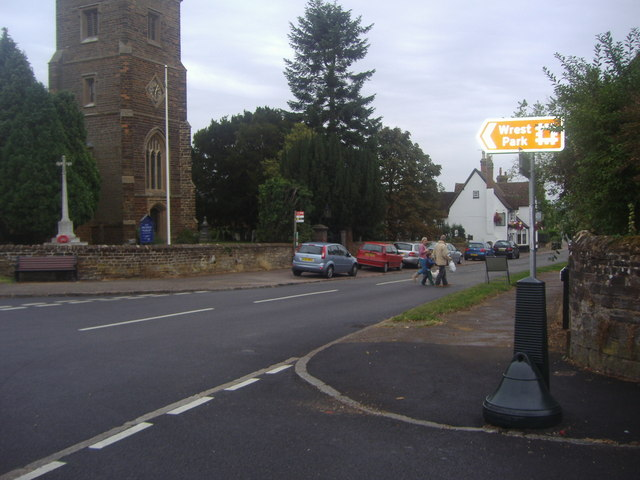 The corner of Church Road and High Street, Silsoe