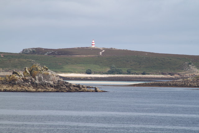 St Martin's Daymark from Toll's Island, Isles of Scilly