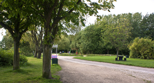 A play area at Pennington Flash