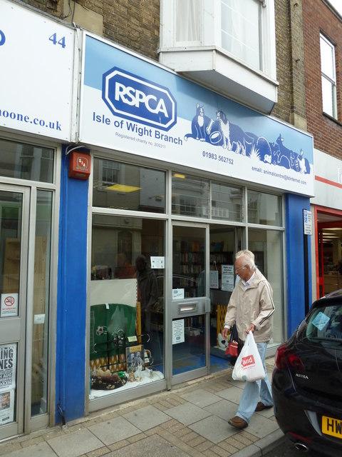 Ryde High Street- charity shop (f)